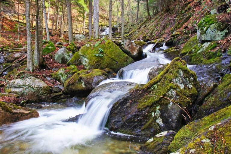 running water in vermont woods