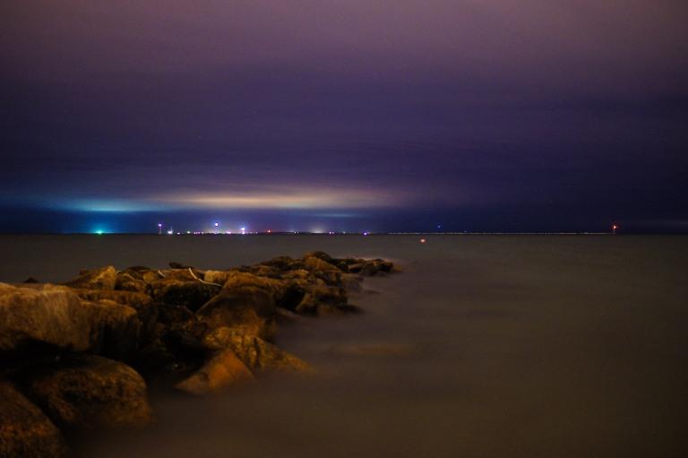 long exposure ocean jetty