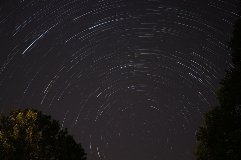 Star trails over new jersey