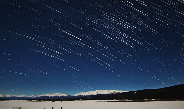 Mount Massive Star Trails